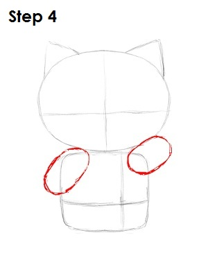 draw hello kitty step 4