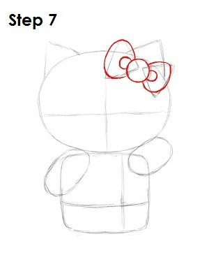 Draw Hello Kitty Step 7