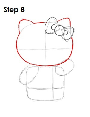 draw hello kitty step 8