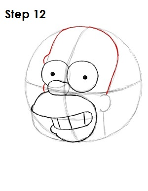 how to draw homer simpson step by step