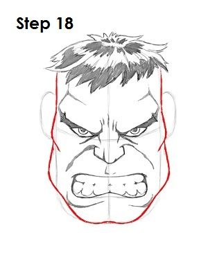 draw the hulk step 18