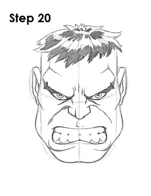 Draw The Hulk Step 20