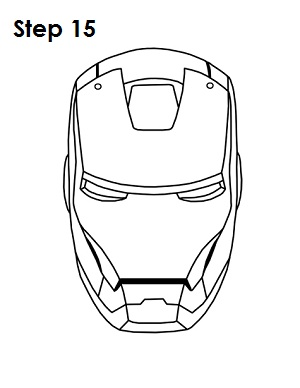 Draw your favorite cartoons for Iron man face coloring pages