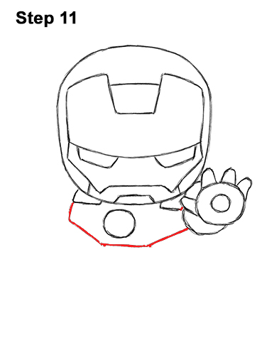 Draw Mini Chibi Cute Little Iron Man 11