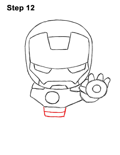 Draw Mini Chibi Cute Little Iron Man 12