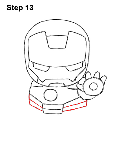 Draw Mini Chibi Cute Little Iron Man 13