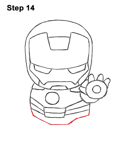 Draw Mini Chibi Cute Little Iron Man 14