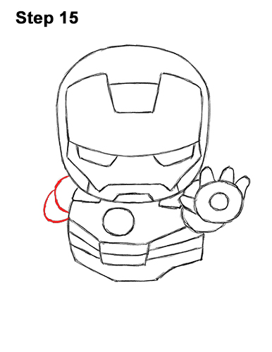 Draw Mini Chibi Cute Little Iron Man 15