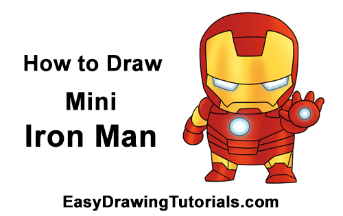 How to draw iron man mini - Mini iron man ...