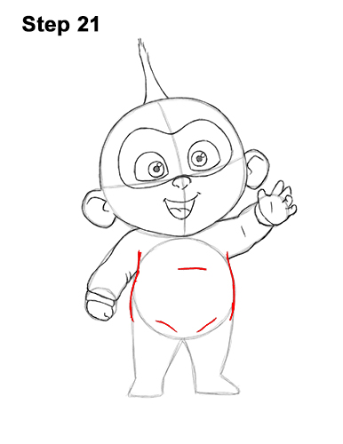 How to Draw Jack Jack Cute Baby Incredibles 21