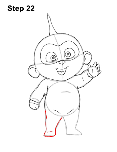 How to Draw Jack Jack Cute Baby Incredibles 22