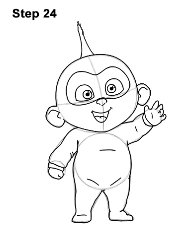 How to Draw Jack Jack Cute Baby Incredibles 24
