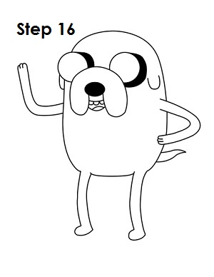 draw jake adventure time step 16 - Adventure Time Coloring Pages Jake