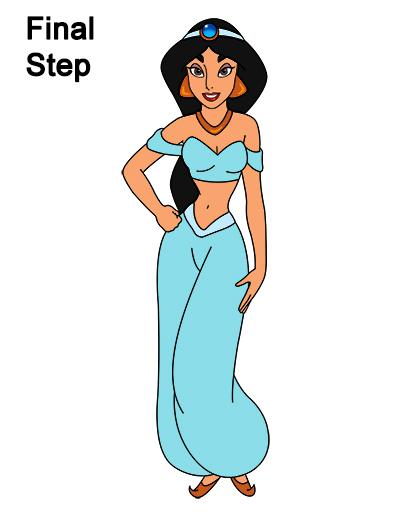 how to draw jasmine full body riti reewaz
