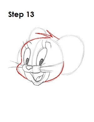 how to draw jerry face step by step