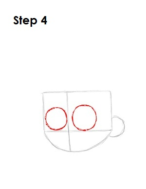 Draw Johnny Test Step 4