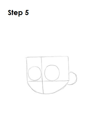 Draw Johnny Test Step 5