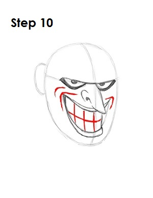 Draw the Joker Step 10