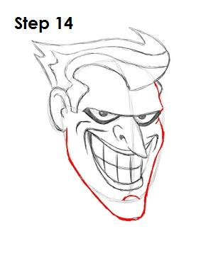 Draw The Joker Step 14