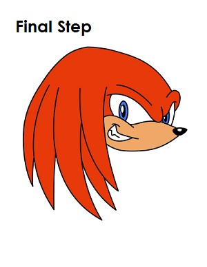 Draw Knuckles Final Step