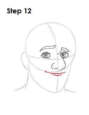 how to draw dip under lips