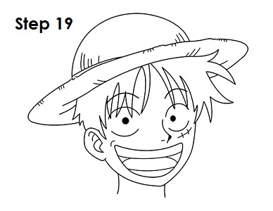 How To Draw Monkey D Luffy