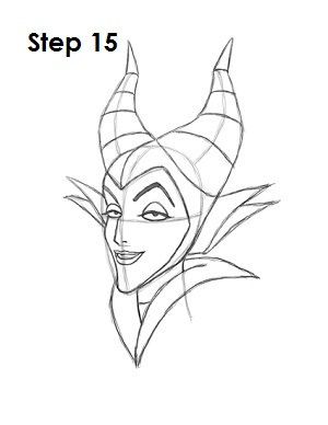 How To Draw Maleficent Step 15