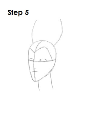 How to Draw Maleficent Step 5