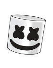 How to Draw a Cartoon Marshmello Head Fortnite