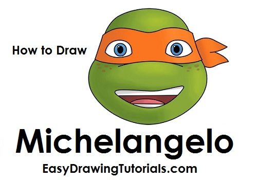 how to draw michaelangelo