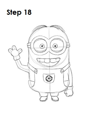 How to Draw a Minion  Easy Minion Pencil Drawings