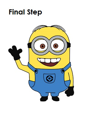 Minions Drawing Step By Step How to draw a minion step 20