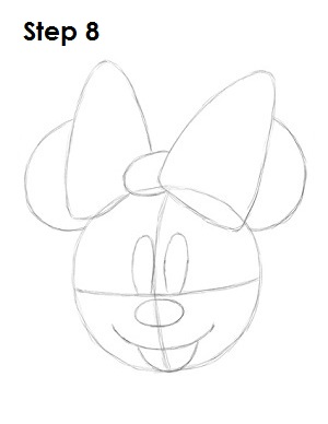 draw minnie mouse step 8