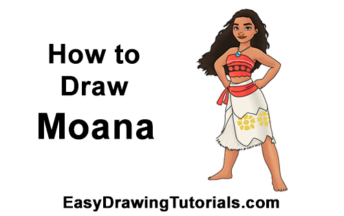 How to Draw Moana Full Body Disney