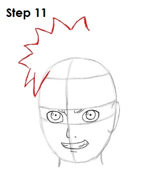 How to Draw Naruto Step 11