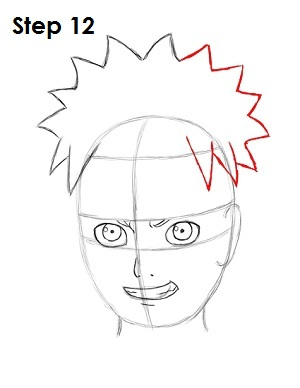 How to Draw Naruto Step 12