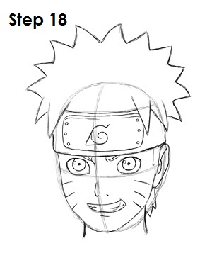 How to Draw Naruto Step 18