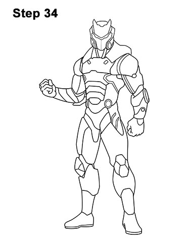 Fortnite Omega Skin Coloring Page Best Image Of Coloring Page
