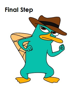 How to draw perry the platypus agent p draw perry the platypus final step voltagebd