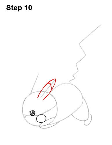 How to Draw Pikachu Pokemon Side Lightning Rod Attack Fight Battle Bold 10