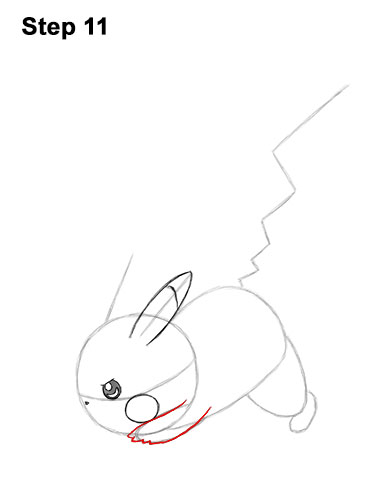 How to Draw Pikachu Pokemon Side Lightning Rod Attack Fight Battle Bold 11