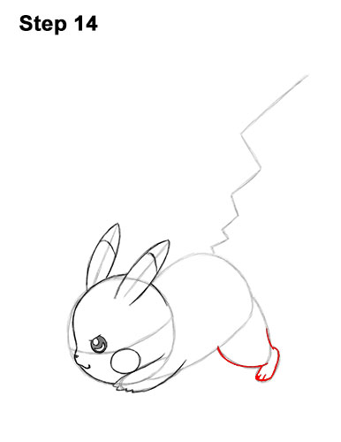 How to Draw Pikachu Pokemon Side Lightning Rod Attack Fight Battle Bold 14