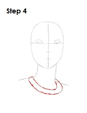 How to Draw Pocahontas Step 4