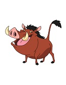 How to Draw Pumbaa Lion King