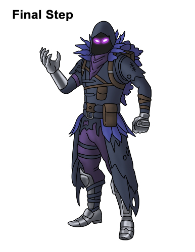 How To Draw Fortnite Raven Easy