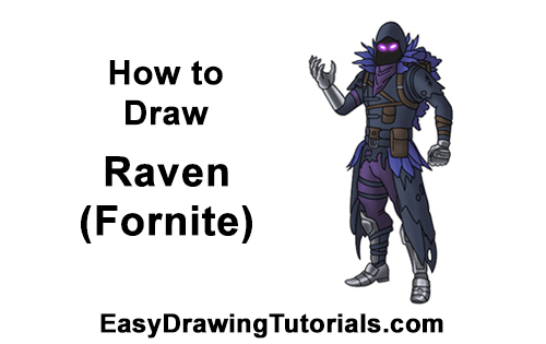 How to Draw Raven Full Body Fortnite Battle Royale