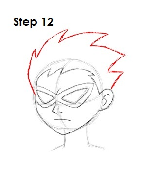 How to Draw Robin Step 12