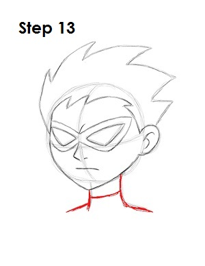 How to Draw Robin Step 13