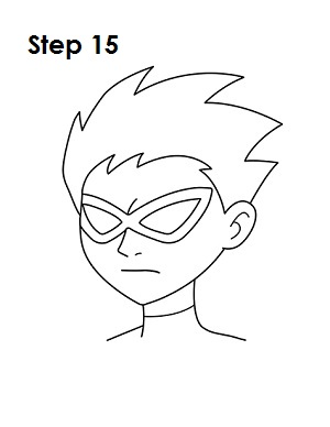 How to Draw Robin Step 15