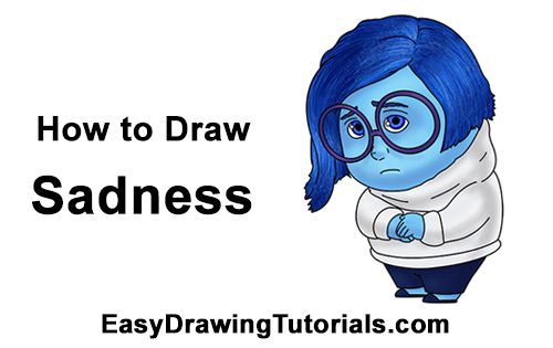 How to Draw Sadness Inside Out
